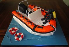 Ribs boat cake