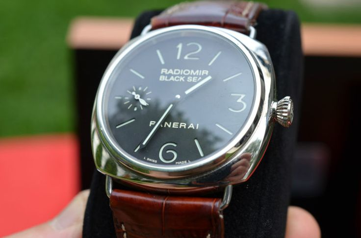 PANERAI BLACK SEAL PAM 183 EXCELLENT CONDITION, EXTRA PANERAI CROC BAND