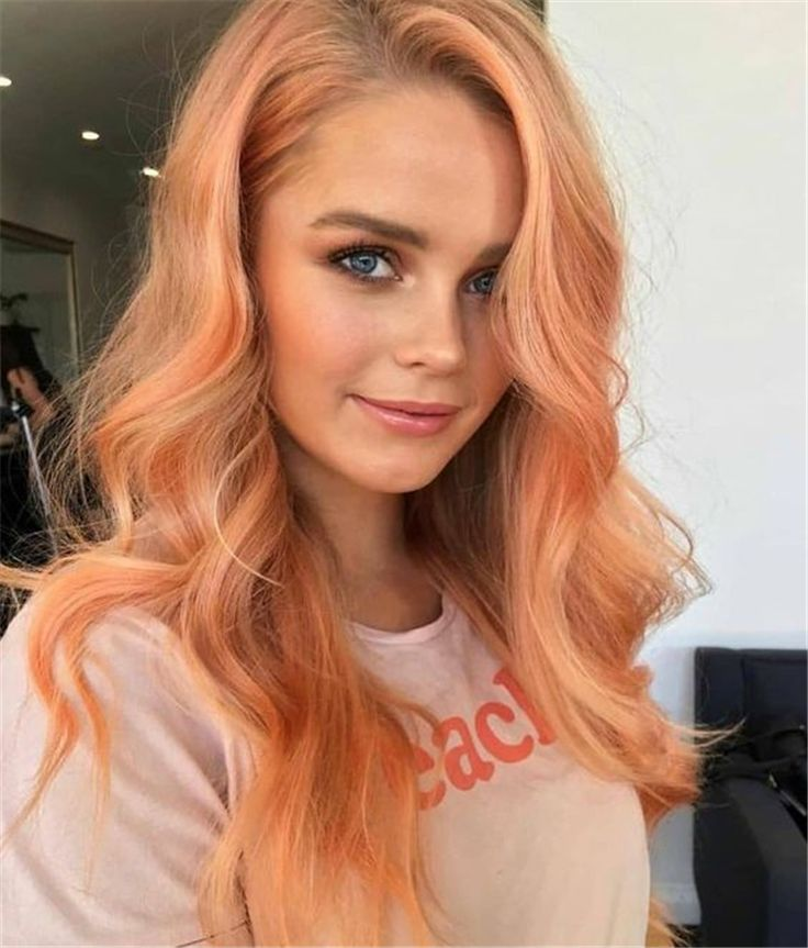 Peach Hair Hottest Hair Color In Spring And Summer Of 2019 Peach