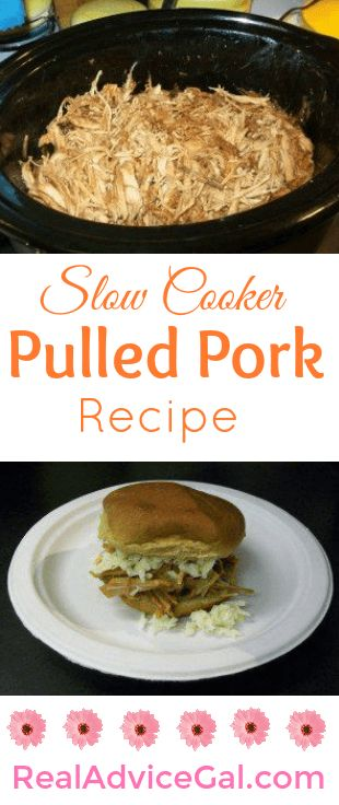 This is my favorite slow cooker recipe. It's so tasty and super easy to make. Try this crockpot pulled pork recipe now!