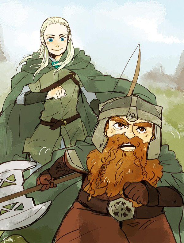 Legolas and Gimli #lordoftherings #fanart