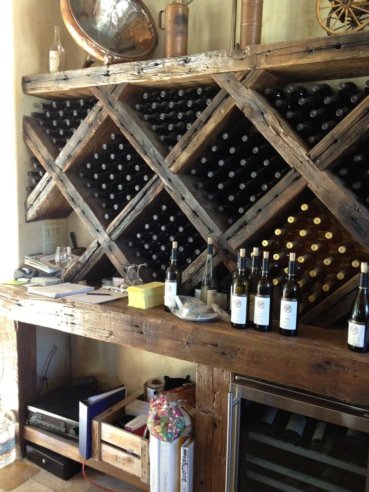 rustic wine rack - Built In Wine Fridge