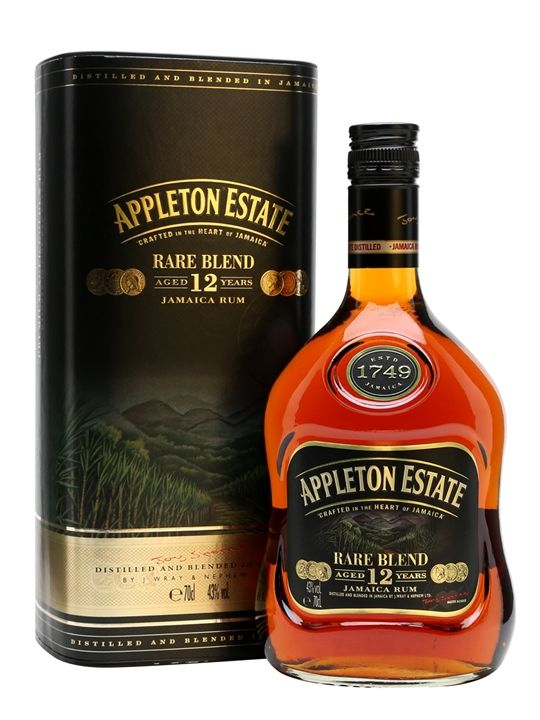 Rare Blend is the new name for Appleton 12 Year Old Extra. Distilled in traditional copper pot stills, Rare Blend is a superb blend of rums, many of which have been aged for at least 12 years.