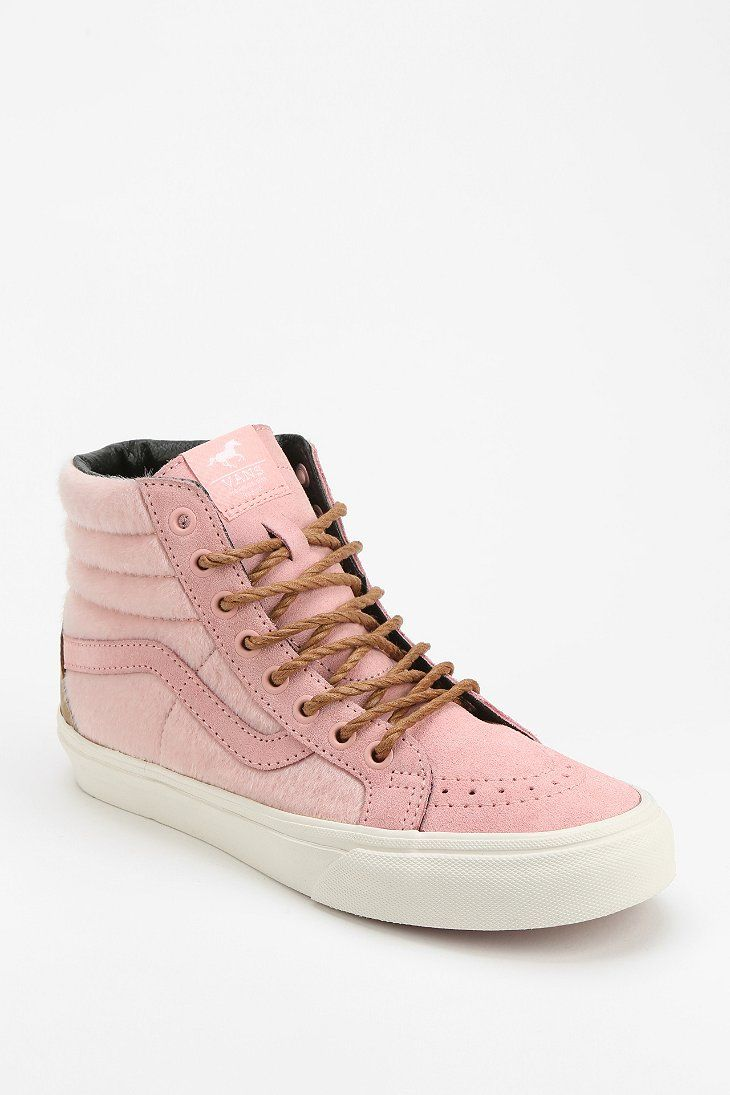 pink high top vans womens