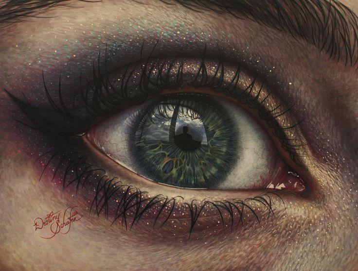 Makeup Eye (32x24, Acrylic, 2016)