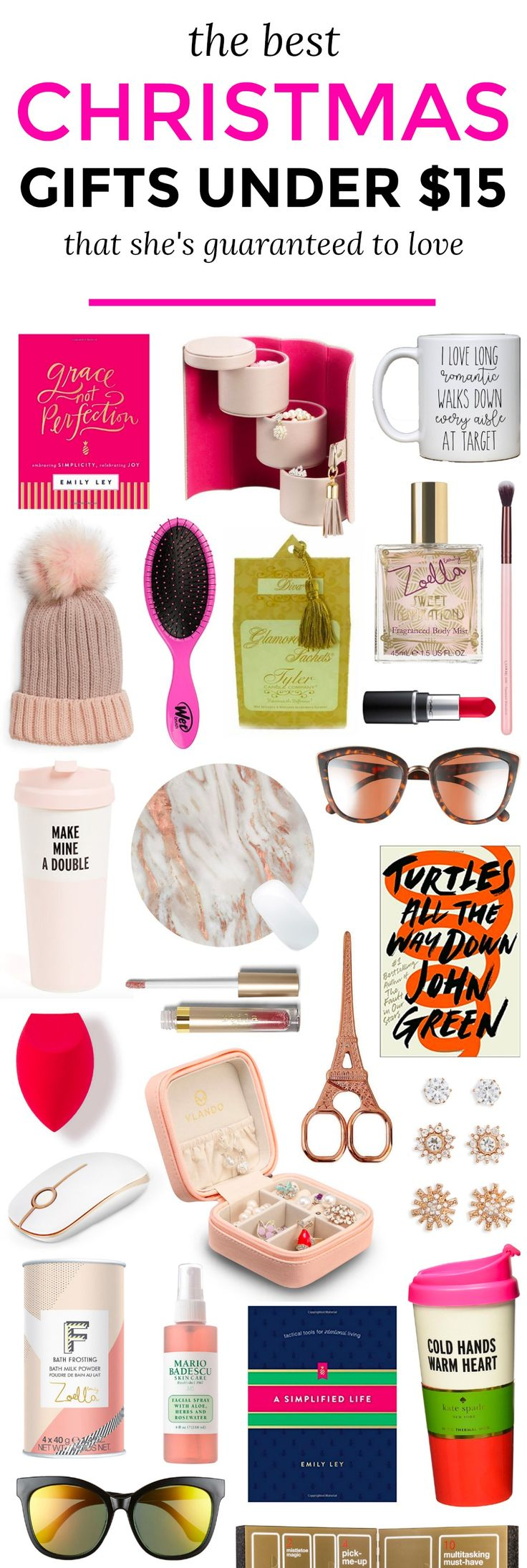 The best Christmas gift ideas for women under $15! The ultimate Christmas gift guide for women by Orlando, Florida beauty and fashion blogger Ashley Brooke Nicholas  | gifts under $15, gifts for women, holiday gift guide, best holiday gifts, best Christmas gifts, affordable gift ideas, gifts for women, gifts for teens, gifts for teen girls