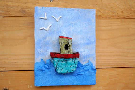 Nursery Wall Art Boat Wall Decor Baby Boy Nursery Boys Wall