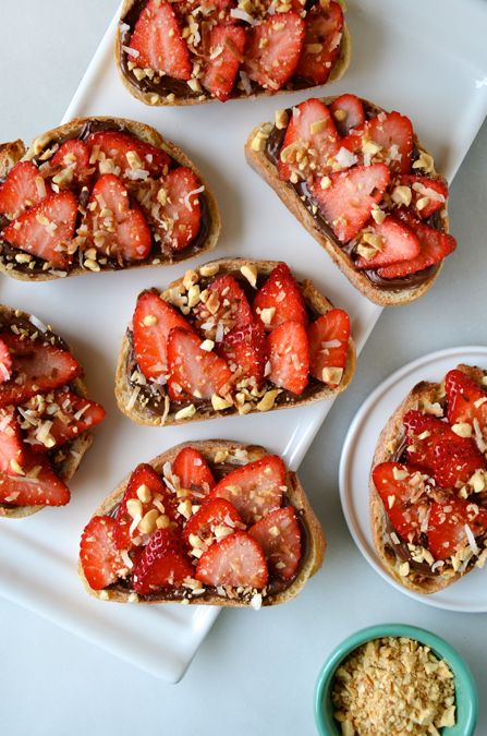 Savory bruschetta takes a turn on the sweet side with quick and easy Strawberry Dessert Bruschetta topped with toasted coconut and salted peanuts. While I'm all for the traditional tomato-topped take on bruschetta, this slightly sweeter alternative has become my go-to dessert for busy weeknights. So I've transformed the original recipe into a Nutella-slathered, strawberry-studded, [...]