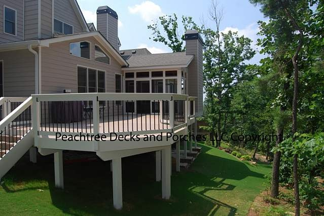 screen porch and deck: Deck Ideas, Extra Fireplace, Decks, Porch Dreaming, Screen Porch, Photo Galleries, Curved Deck