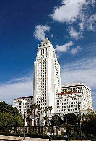 Ayuntamiento de Los Ángeles, el centro de Los Ángeles, California, Estados Unidos de América.
