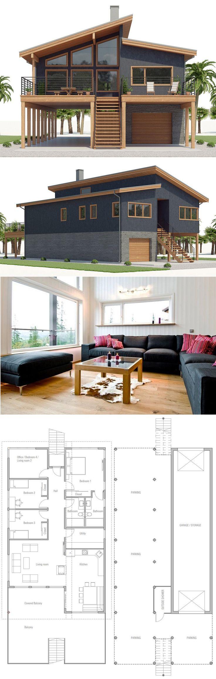 Beach House Plan CH541