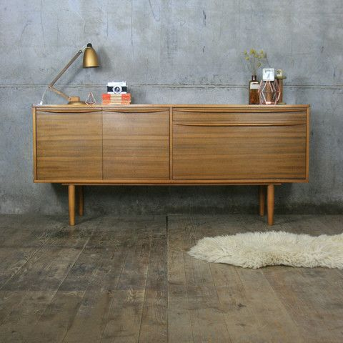 Vintage Walnut Sideboard by Morris of Galsgow