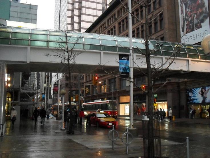 skywalk at Eaton's Center  Toronto, Ontario  Feb. 2012