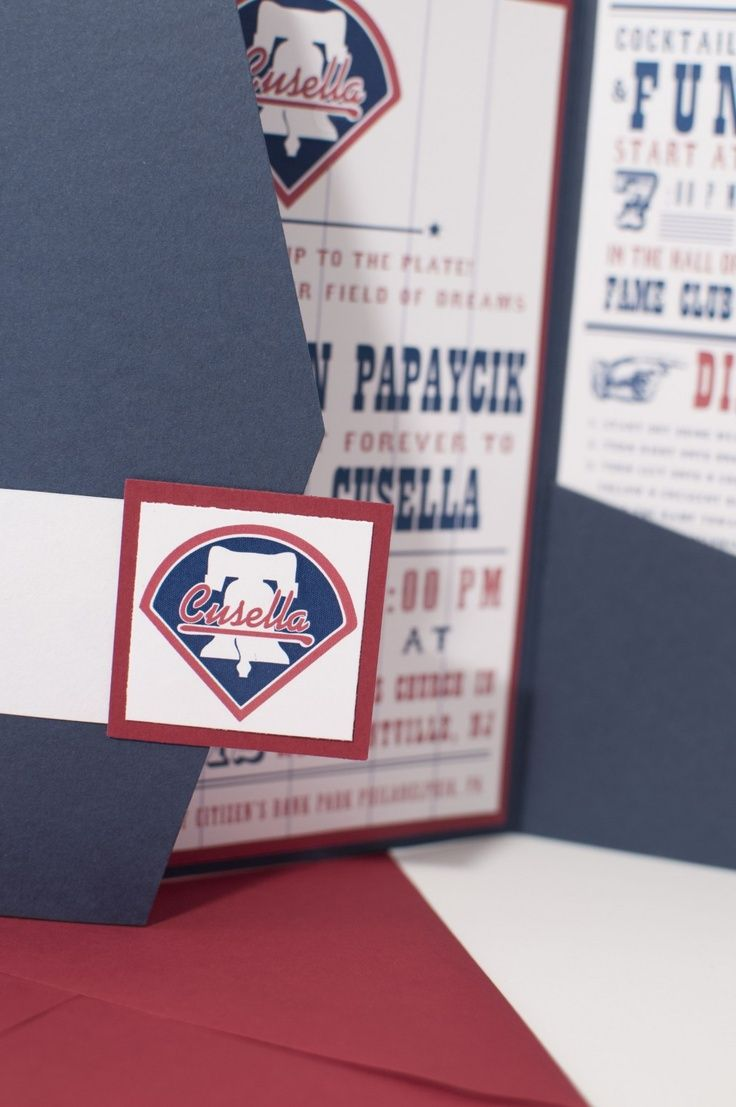 movie ticket stub wedding invitation%0A Baseball Themed Wedding Invitations  u     Baseball Invitations for Baseball  fans in New York  Philidelphia or Milwaukee