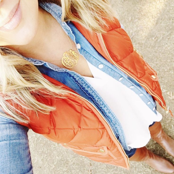 Fall outfit, winter outfit, outfit inspiration, j.crew vest, how to wear riding boots, clemson football outfit, tailgating outfits, layering under a vest