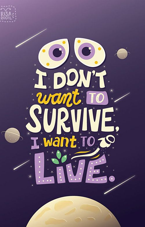 Story of my life.  I just have to get through this week, this party, this weekend, etc.  That isn't living!  CK
