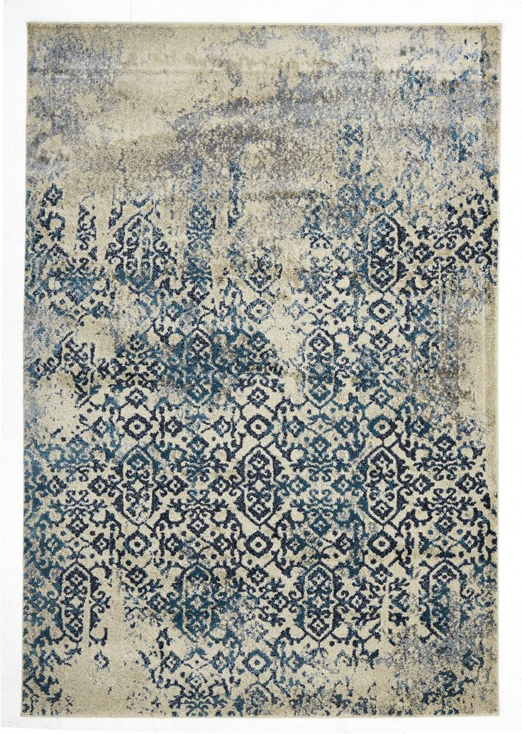 Amasya is a beautiful rich blue transitional rug. Featuring a traditional faded arabesque motif with an abrash faded look effect, Amasya is gorgeously contemporary