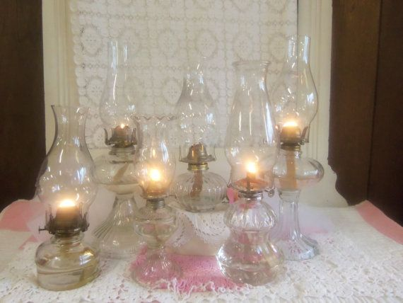 43 best oil lamps images on pinterest antique oil lamps kerosene oil lamps wedding table setting aloadofball Choice Image