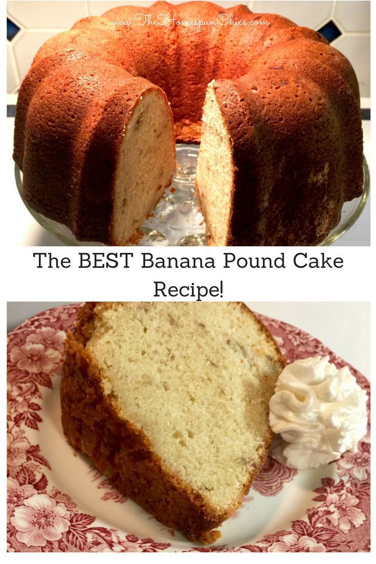 Love pound cakes? This buttery Banana Pound Cake recipe is one of our favorites! The Homespun Chics
