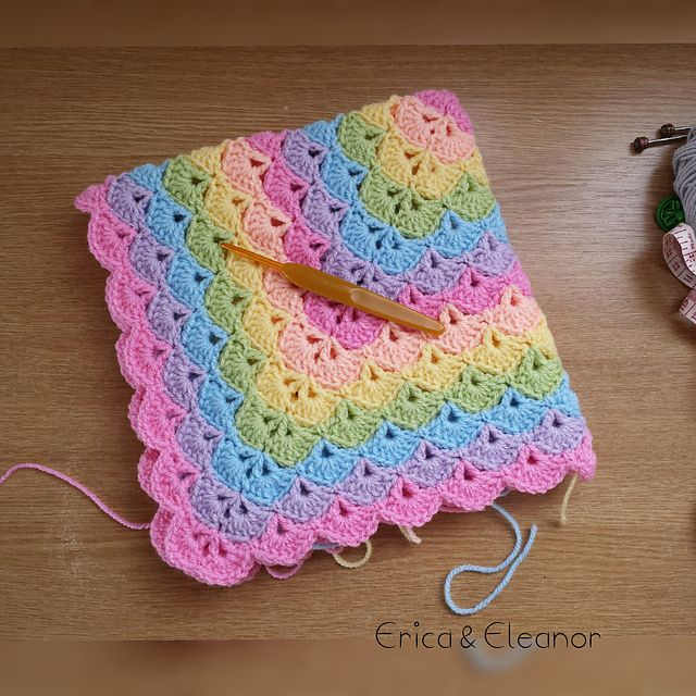 Ericaandeleanor S Beautiful Shells Blanket Crochet Shell