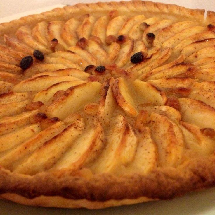 Tarta de manzanas a la francesa ligera en calorías