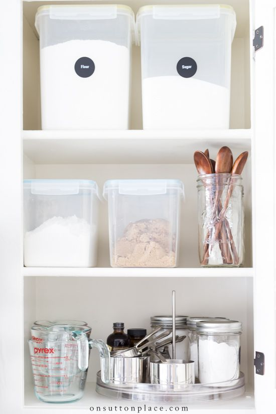 Baking Cabinet Organization Spice Storage Ideas With Images