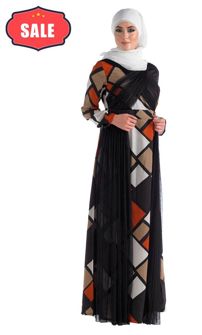 Evening Wear Dressy Print Abaya