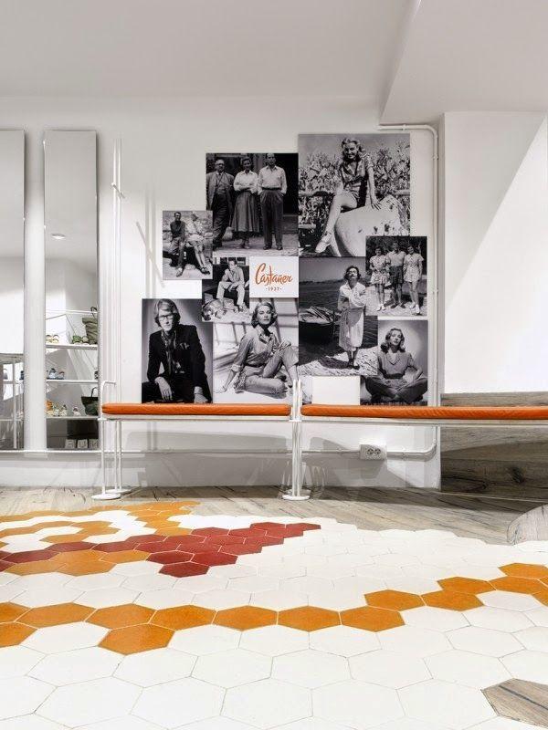 increble despliegue de baldosas hexagonales cermicas para la nueva flagship store castaer singular by felip