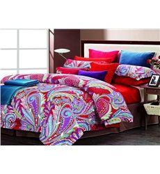 Colorful Phoenix piume Stampa 4 set di pezzi di cotone biancheria da letto