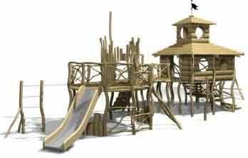 Деревянная детская Classic 8 ( 6-14 лет) площадка