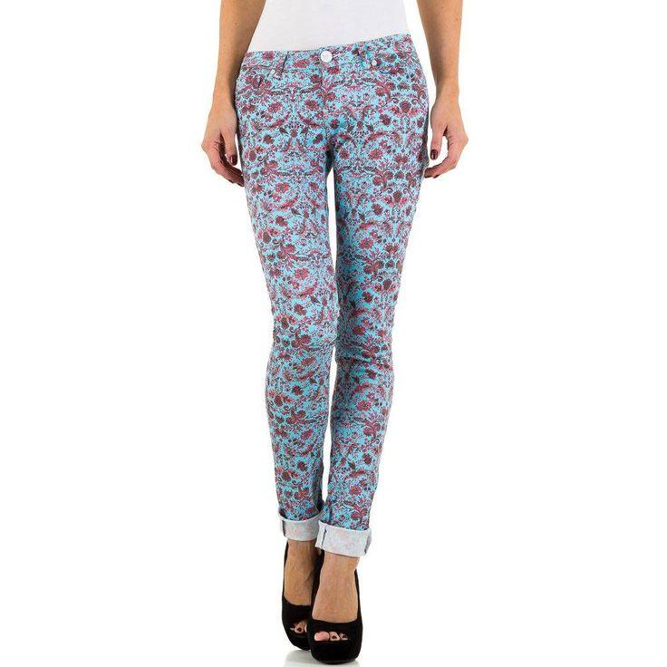 Blå Jeans med blommotiv från Simply Chic