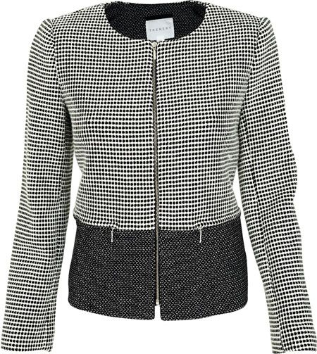 Easily change your office look to for an evening look with this monochrome jacket - R1 999, Trenery