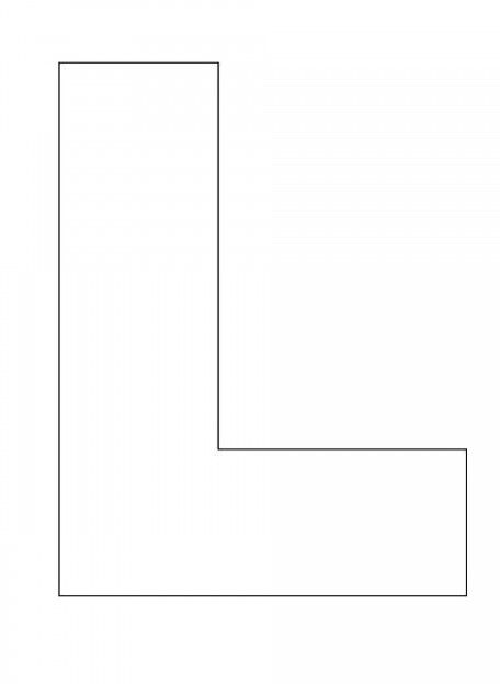 the letter l - 736×1007