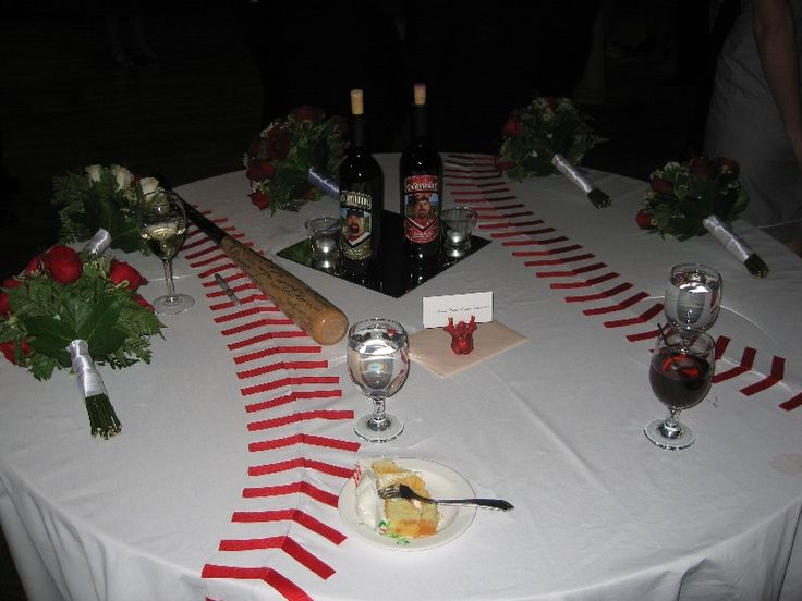 Simple baseball table covering