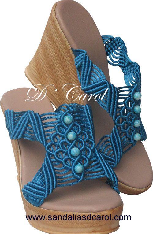 Sandalias ресни Dcarol Azul Perlas Clave: 038 на $ 549.00