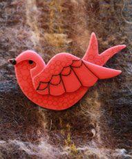 Erst Wilder 'Red Dove' Brooch