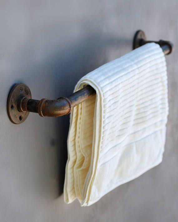 Handtuchhalter Industrie Rohr Hand Handtuch Rack rustikale