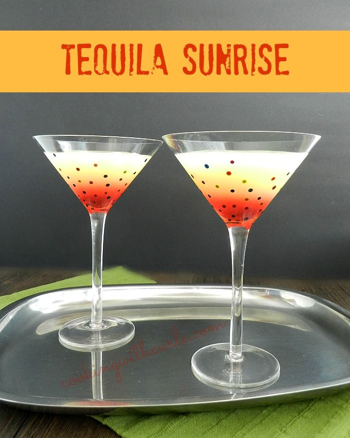 Named for the way the grenadine sinks, then rises in the glass, a Tequila Sunrise is a great way to start or end your day!