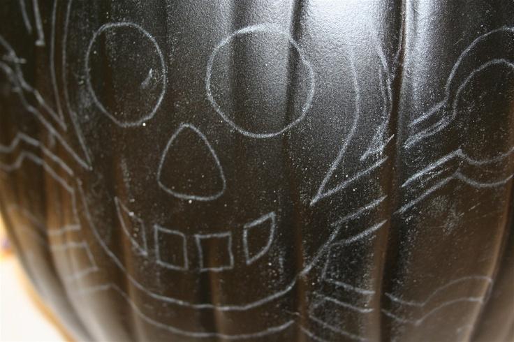 Sparkle up a skeleton pumpkin.   Mod Podge Rocks