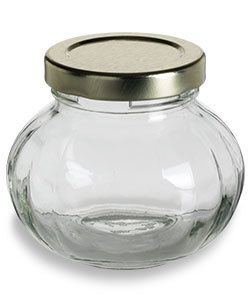 4 oz (125 ml) Faceted Glass Jar with Gold Lid - FACE4