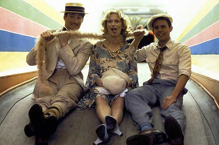 Kevin Kline, Meryl Streep and Peter MacNicol on the set of Sophie's Choice