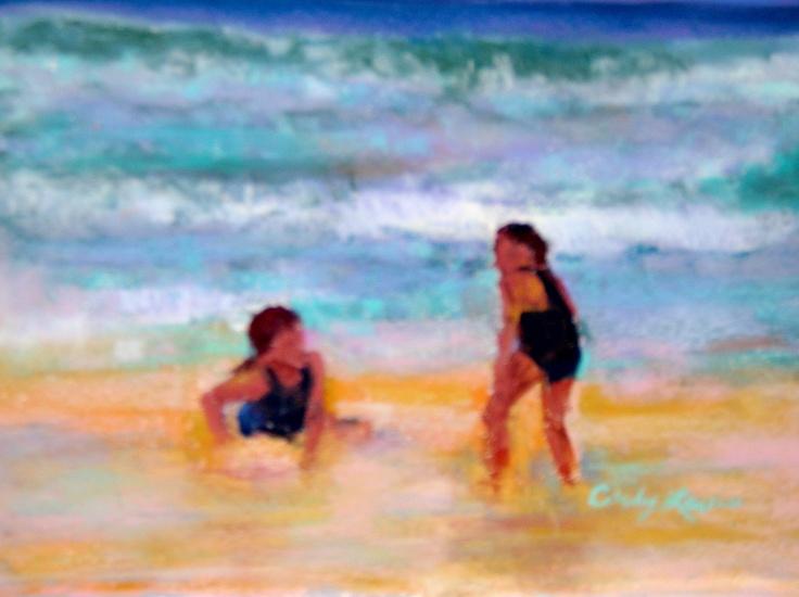 alexandra and elizabeth on florida beach