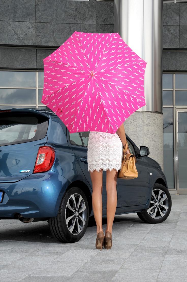 Há uma Micra Attitude debaixo deste guarda-chuva! #MicraAttitude #Portugal