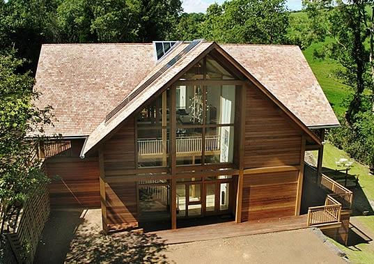Oak framed house Devon 1