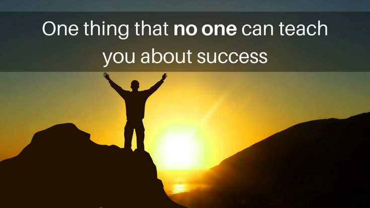 One thing that no one can teach you about #success :http://michaelkidzinski.ws/one-thing-that-no-one-can-teach-you-about-success/
