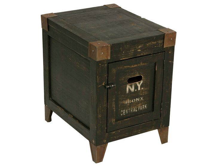 Graffiti Inspired End Table With Storage
