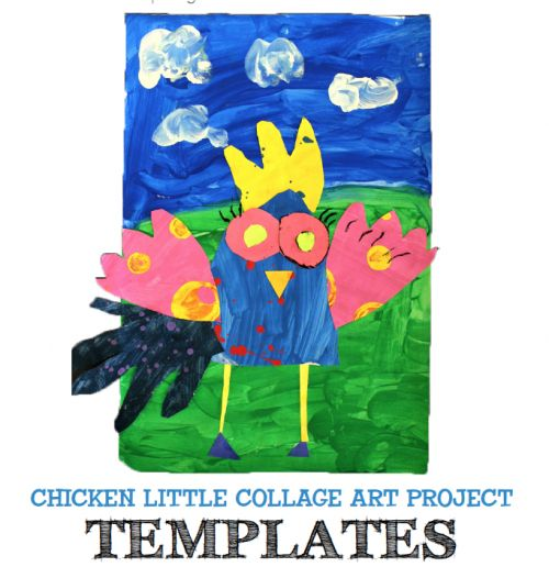 FREE Chicken Little Template PDF to accompany art lesson