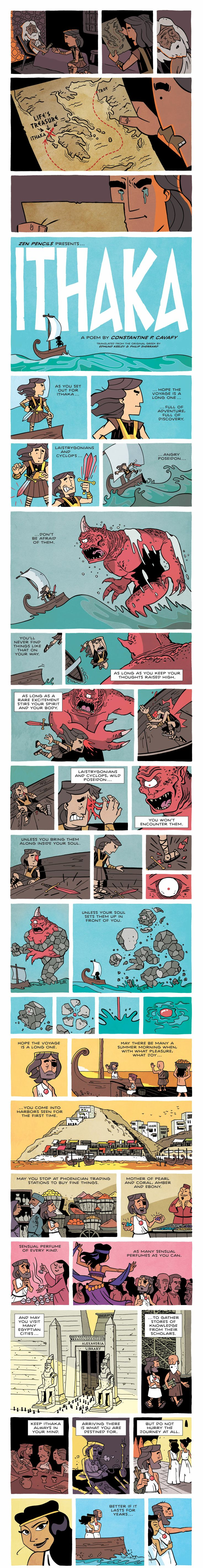 #Zenpencils - #webcomic by Gavin Aung Than - Ithaka (click through for the complete comic)