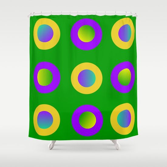 Mardi Gras Polka Dots Shower Curtain by Khoncepts