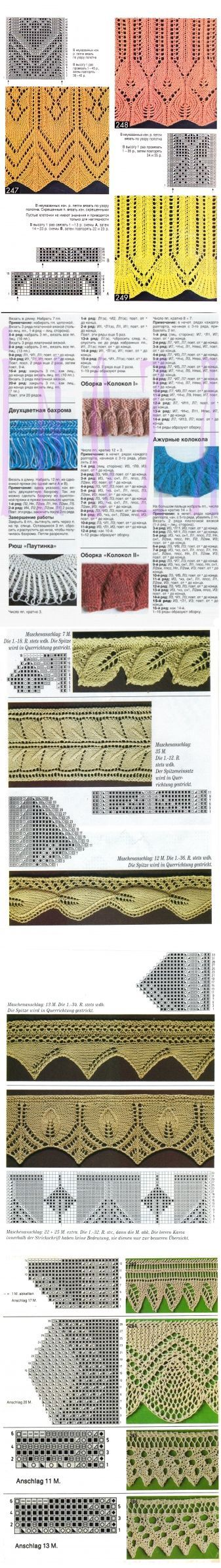 КАЙМА спицами (из ИНТЕРНЕТА) / Вязание спицами / Вязание для женщин спицами. Схемы
